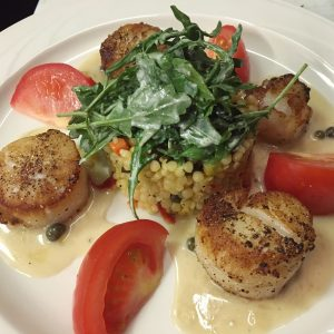 Sea Scallops with Lemon Caper Buerre Blanc